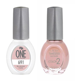 Blushing Hard Matching Color of One Gel Polish & Timeless Lacquer Duo Set