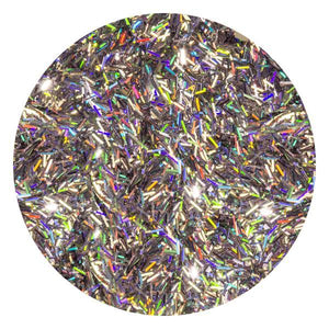 Art Glitter & Confetti, #044 Rectangle Holographic Silver