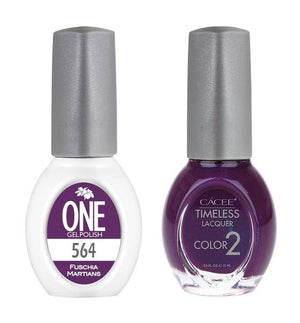 Fuschia Martians Matching Color of One Gel Polish & Timeless Lacquer Duo Set