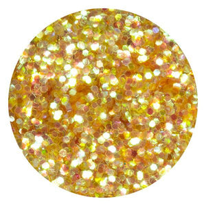 Art Glitter & Confetti, #186 Hexagon Iridescent Yellow
