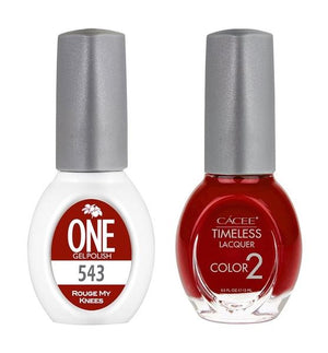 Rouge My Knees Matching Color of One Gel Polish & Timeless Lacquer Duo Set