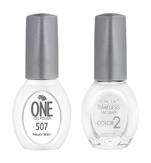 Milky Way Matching Color of One Gel Polish & Timeless Lacquer Duo Set