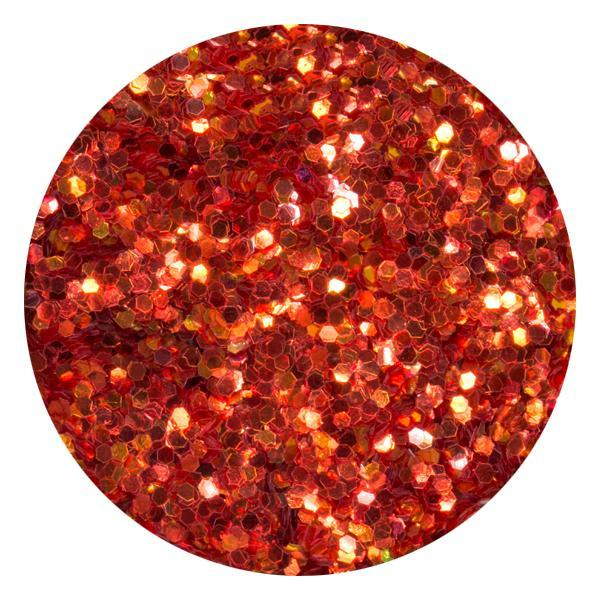 Art Glitter & Confetti, #203 Hexagon Iridescent Orange