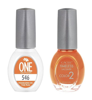Mandarin On The Run Matching Color of One Gel Polish & Timeless Lacquer Duo Set