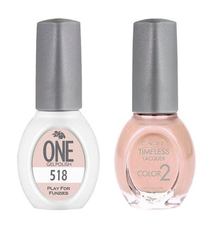 Play For Funzies Matching Color of One Gel Polish & Timeless Lacquer Duo Set