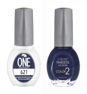 Over Your Cold Shoulder Matching Color of One Gel Polish & Timeless Lacquer Duo Set