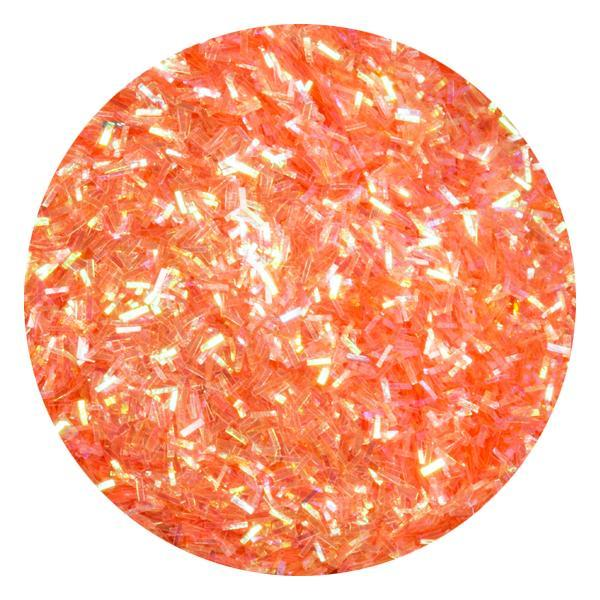 Art Glitter & Confetti, #223 Small Rectangle Iridescent Orange