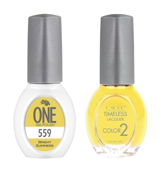 Bright Summers Matching Color of One Gel Polish & Timeless Lacquer Duo Set