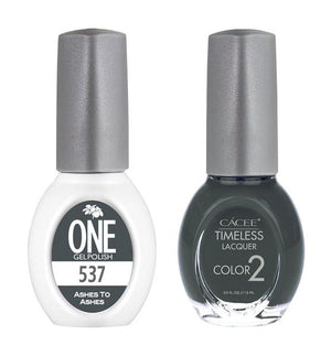 Ashes To Ashes Matching Color of One Gel Polish & Timeless Lacquer Duo Set