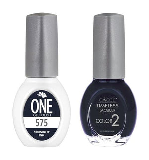 Midnight Ink Matching Color of One Gel Polish & Timeless Lacquer Duo Set