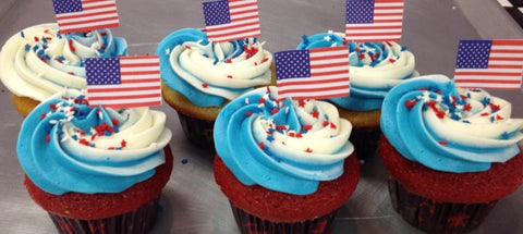 1 Dozen Fourth of July Cupcakes In-store Pickup