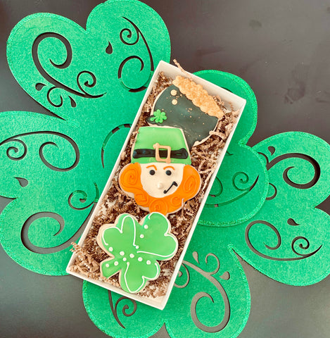 St. Paddy's Day Cookie Box w/Bow In-store Pickup