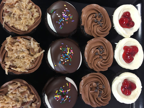 "1 Dozen ""Chocolate Lovers"" Cupcakes In-store Pickup"
