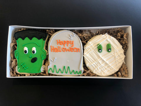 Halloween Monster Cookie Box w/Bow In-store Pickup