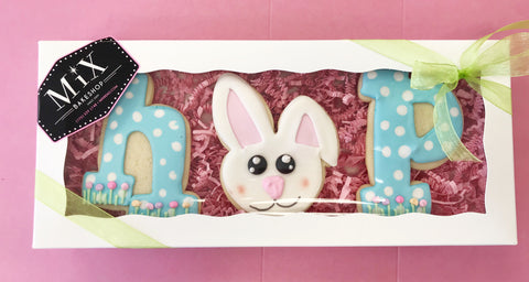 Easter HOP Cookie Box w/Bow In-store Pickup