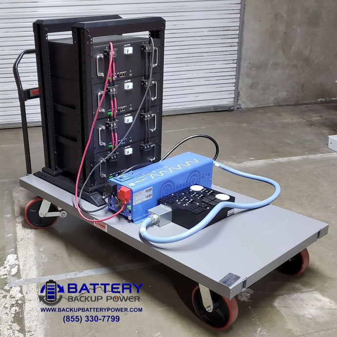 20 KWH Mobile Rental Battery Backup Cart For Temporary Power