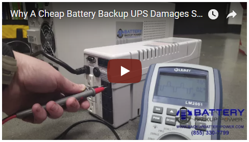 Why A Cheap Battery Backup UPS May Damage Sensitive Electronics