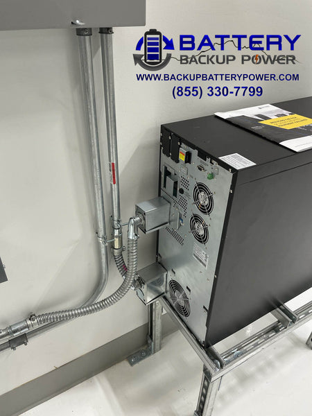 Battery Backup Power 10KVA Back Side Connection Hardwire