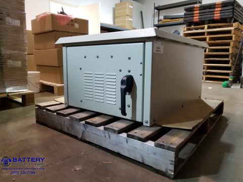 Battery Backup Power, Inc. System In NEMA 3R Enclosure Closed
