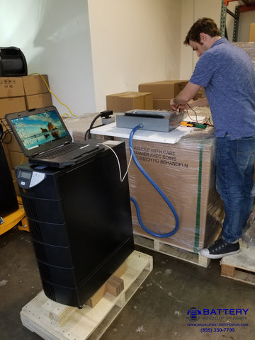 Testing 10 KVA Battery Backup UPS