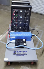Battery Backup Power Temporary Power Rental Cart Side View