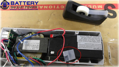 Battery Backup Power Uninterruptible Power Supply (UPS) Battery Replacement Step 4