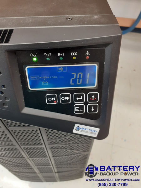 6KVA UPS LCD Screen With 201 VAC 50 Hz Input