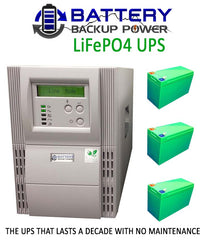 Battery Backup Power LiFePO4 UPS