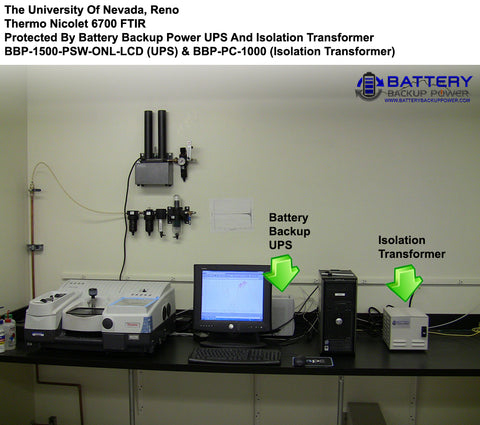 Battery Backup UPS Protecting UNR Thermo Nicolet 6700 FTIR