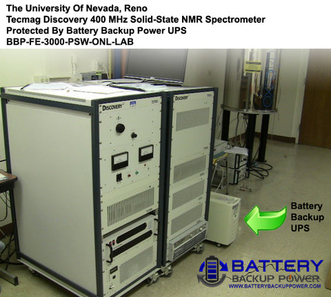 Battery Backup UPS Protecting UNR Tecmag Discovery 400 MHz Solid-State NMR Spectrometer