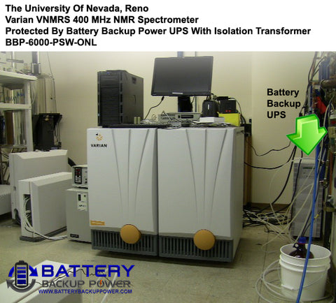 Battery Backup UPS Protecting UNR Varian VNMRS 400 MHz NMR Spectrometer