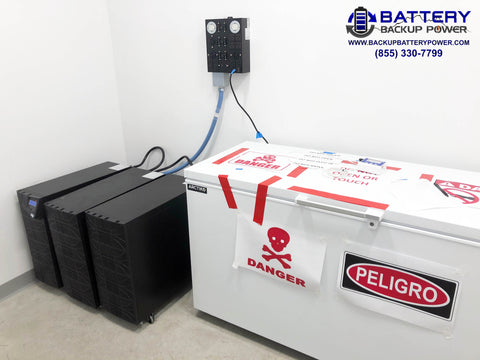 Battery Backup Power System For Ultra Low Temperature COVID Vaccine Freezer