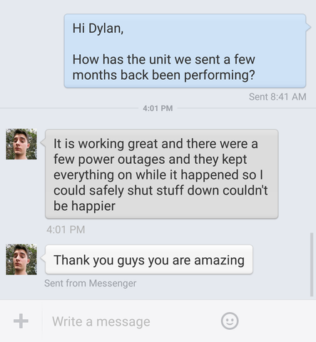 Dylan's Customer Review Of Battery Backup Power, Inc.