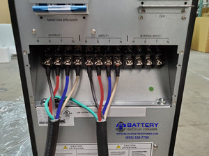 Battery Backup Power 10KVA 15KVA 20KVA 120/208Y 3 Phase UPS Terminal Block Wiring Diagram Hardwire Connections