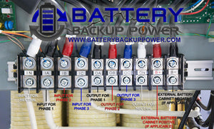 Battery Backup Power Hardwire 3 Phase UPS Wire Block Terminal