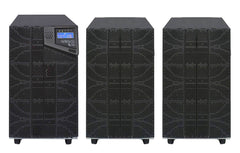 10 kVA / 10,000 Watt N+1 Digital Tower Battery Backup UPS And Power Conditioner With 2 External Battery Packs