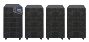 10 kVA / 10,000 Watt N+1 Digital Tower Battery Backup UPS And Power Conditioner With 3 External Battery Packs