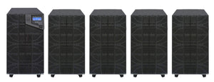 10 kVA / 10,000 Watt N+1 Digital Tower Battery Backup UPS And Power Conditioner With 4 External Battery Packs