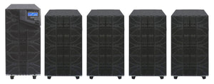 6 kVA / 6,000 Watt N+1 Digital Tower Battery Backup UPS And Power Conditioner With 4 External Battery Packs