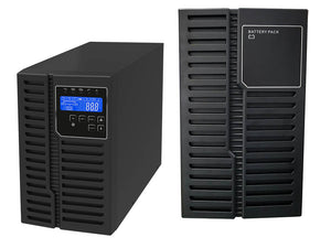 1.5 kVA / 1,350 Watt Digital Tower Battery Backup UPS And Power Conditioner With 1 External Battery Pack