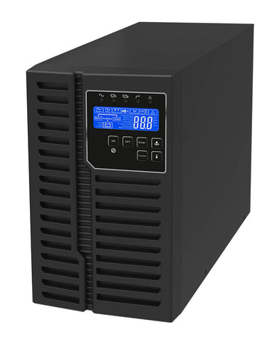 1 kVA / 900 Watt Digital Tower Battery Backup UPS And Power Conditioner For Sensitive Electronics