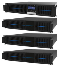 1 kVA / 900 Watt Convertible Rack Mount/Tower UPS (Uninterruptible Power Supply) And Power Conditioner For Sensitive Electronics With 3 External Battery Packs