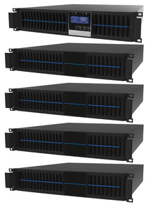 1 kVA / 900 Watt Convertible Rack Mount/Tower UPS (Uninterruptible Power Supply) And Power Conditioner For Sensitive Electronics With 4 External Battery Packs