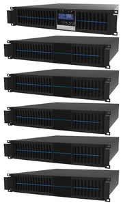 1 kVA / 900 Watt Convertible Rack Mount/Tower UPS (Uninterruptible Power Supply) And Power Conditioner For Sensitive Electronics With 5 External Battery Packs