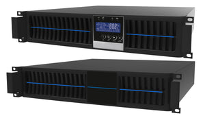 1 kVA / 900 Watt Convertible Rack Mount/Tower UPS (Uninterruptible Power Supply) And Power Conditioner For Sensitive Electronics With 1 External Battery Pack