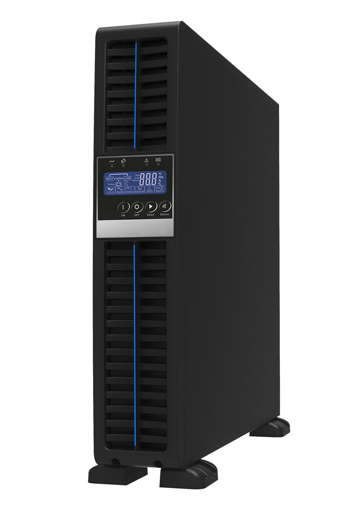 1 kVA / 900 Watt Convertible Rack Mount/Tower UPS (Uninterruptible Power Supply) And Power Conditioner For Sensitive Electronics Standing Upright