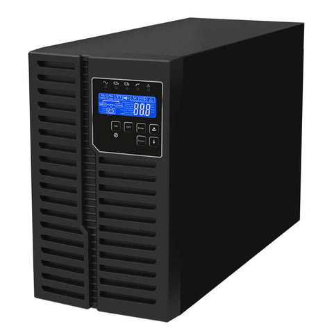 2 kVA / 1,800 Watt Digital Tower Battery Backup UPS And Power Conditioner For Sensitive Electronics