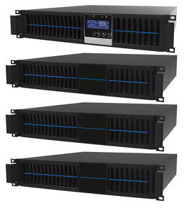2 kVA / 1,800 Watt Digital Convertible Rack Mount/Tower Battery Backup UPS And Power Conditioner With 3 External Battery Packs