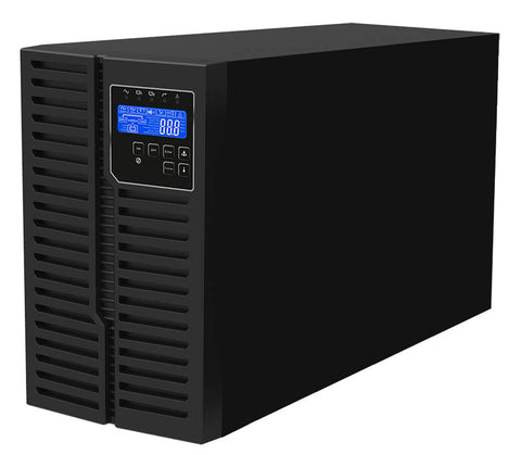 3 kVA / 2,700 Watt Digital Tower Battery Backup UPS And Power Conditioner For Sensitive Electronics (208/220/230/240 Volts)
