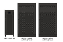 Load image into Gallery viewer, 30 kVA / 30 kW Advanced Digital 3 Phase Battery Backup Uninterruptible Power Supply (UPS) And Power Conditioner With 2 External Battery Cabinets